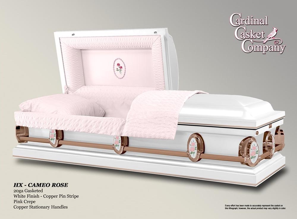 HX Cameo Rose Casket | Brownlie Maxwell Funeral Home