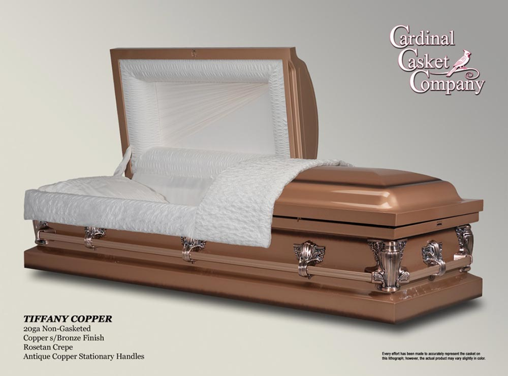 Tiffany Copper Casket | Brownlie Maxwell Funeral Home