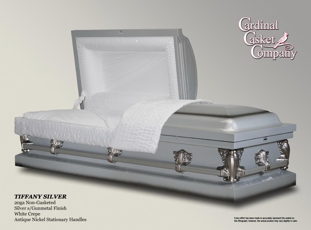 Tiffany Silver Casket | Brownlie Maxwell Funeral Home